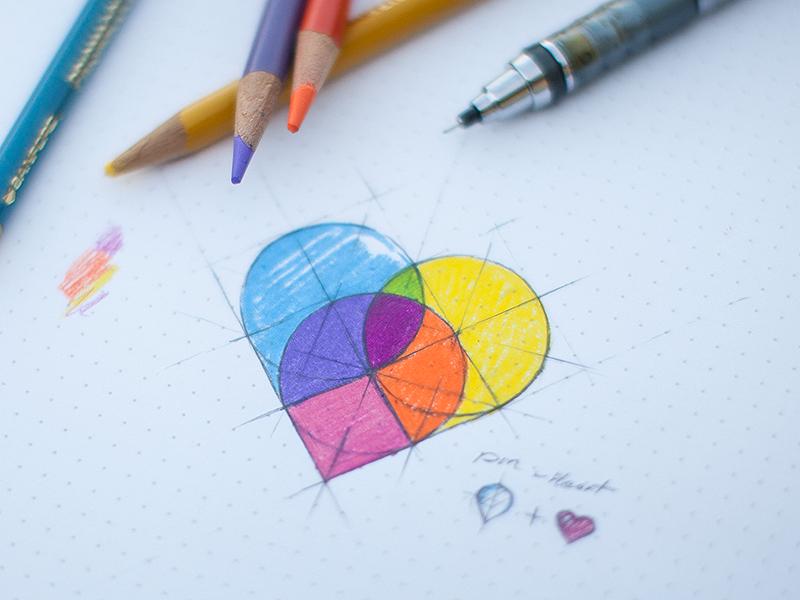 Map pins – heart